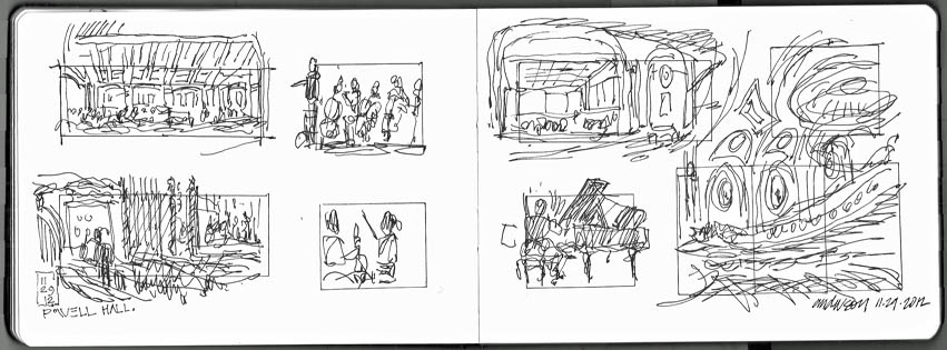 SLSO Rehearsal sketches, Michael Anderson
